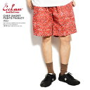 ショッピングハーフパンツ クックマン COOKMAN CHEF SHORT PANTS PAISLEY -RED- 231-01816 レディース メンズ ショートパンツ ショーツ ハーフパンツ パンツ シェフパンツ イージーパンツ ストリート おしゃれ かっこいい カジュアル ファッション cookman
