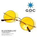 ジーディーシー GDC WANDERLUST ストリート 眼鏡 サングラス 丸メガネ ストリート系 ファッション おしゃれ 丸眼鏡 丸めがね めがね シルバー フレーム アクセサリー メンズ レディース