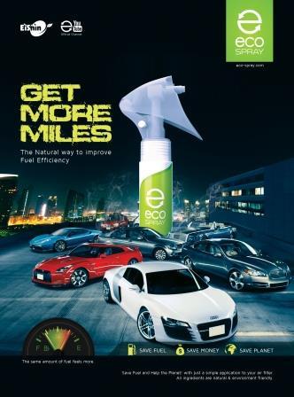 カー用品排気系パーツ燃費向上剤排ガス浄化剤<ECO-SPRAY>非可燃物PM25対策品一本30MIL