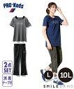 スポーツウェア フィットネスウェア 大きいサイズ レディース PRO−Keds2点セット(重ね着風Tシャツ+クロップドパンツ)(消臭テープ付) L/LL/3L/4L/5L/6L/8L/10L ニッセン nissen