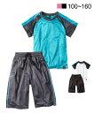 スポーツウェア シャドーブリスターTスーツ(Tシャツ+ボトムス)(男の子 女の子 子供服 ジュニア服) ニッセン nissen