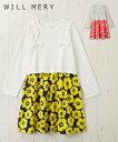 ワンピース キッズ WILL MERY 花柄 女の子 子供服 チュニック オフホワイト/グレー 身長80〜130cm ニッセン