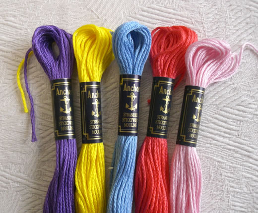 ドイツ アンカー刺繍糸 #25 黄色 オレンジ