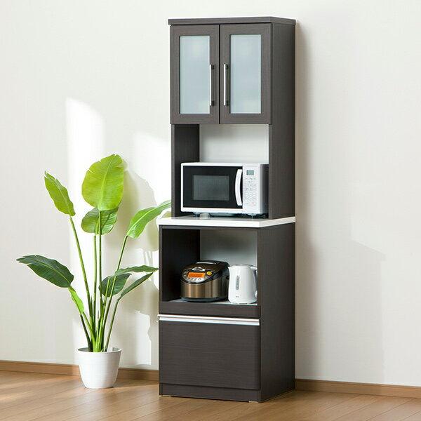 家事のしやすいハイカウンターのレンジボード(クリスナ 60RB DBR)