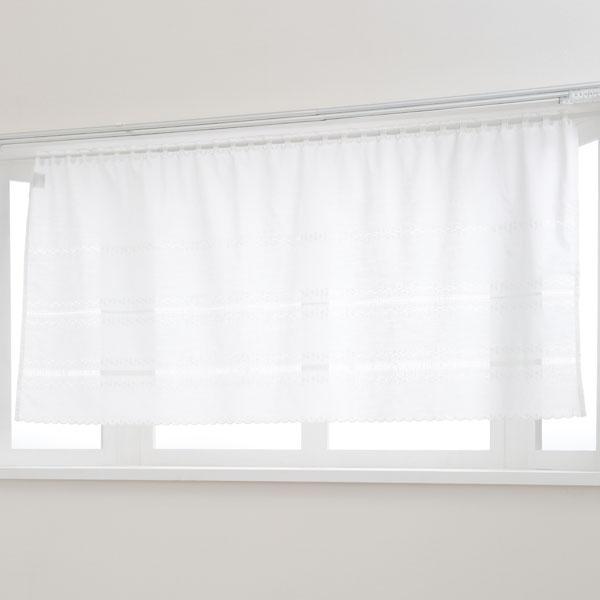 カフェカーテン(ホワイト2 150X75)
