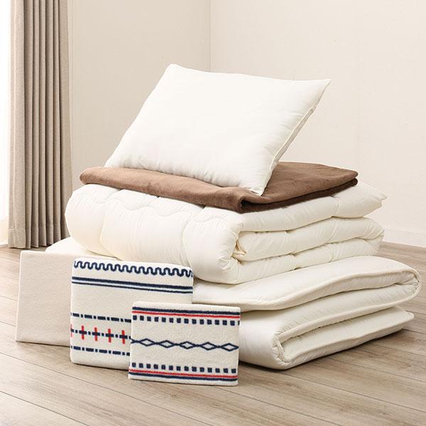毛布付き寝具7点セット シングル(H BE S)