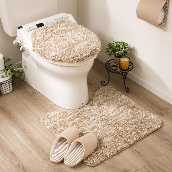 洗浄・暖房用フタカバー&トイレマット2点セット(コンフィIV)