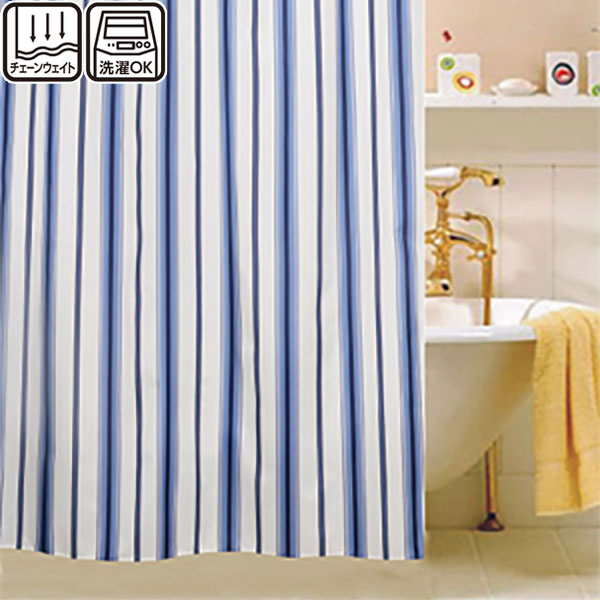 シャワーカーテン(ボーダーNV)