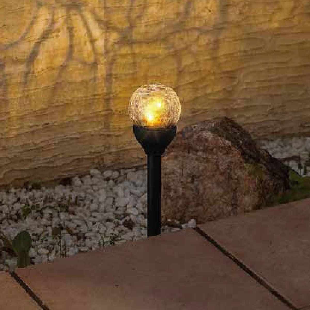 LEDソーラーライト(ガラスボールL IHG)