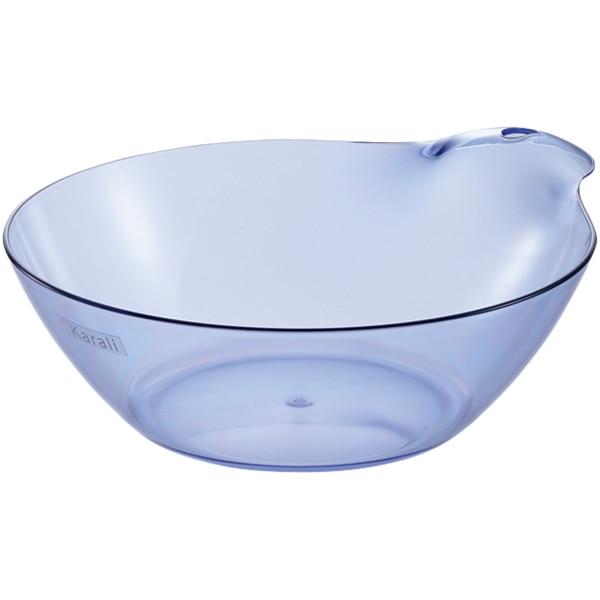 カラリと乾いてお手入れ簡単 湯桶 カラリHG N(クリアブルー)