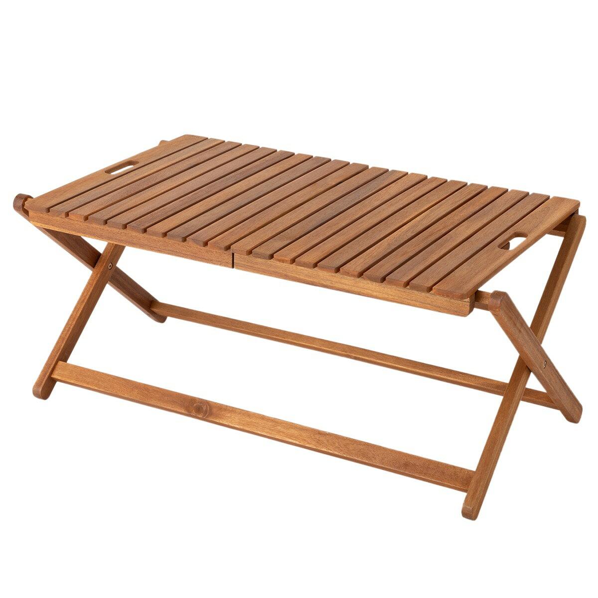 木製折りたたみローテーブル INS