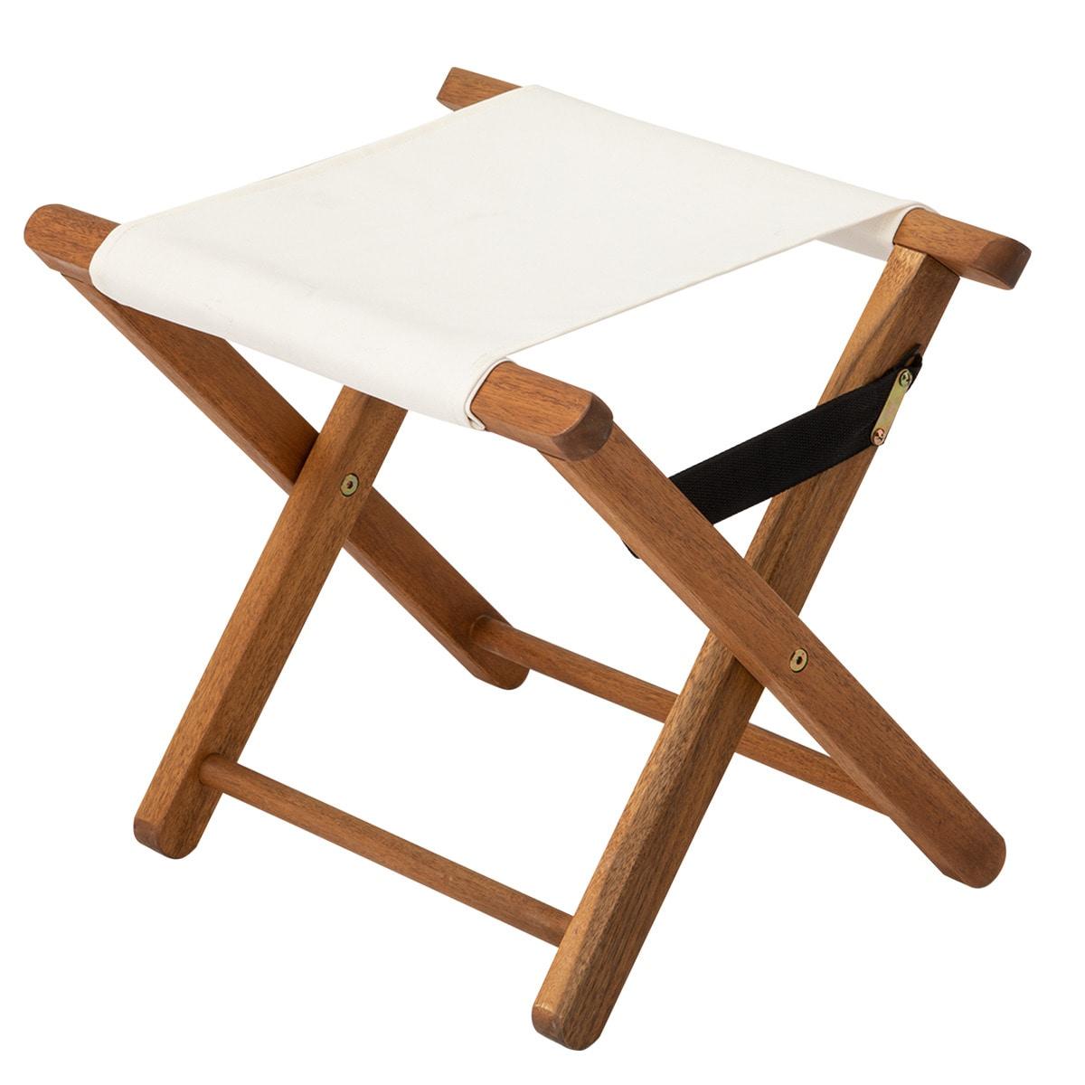 木製折りたたみスツール(アイボリー IVT)