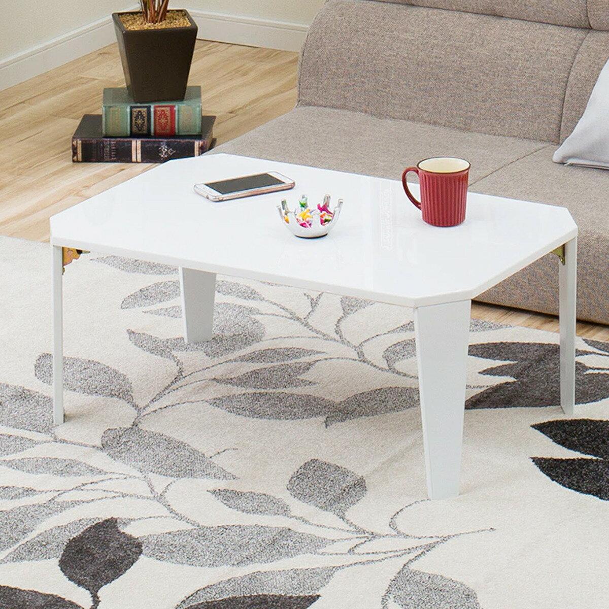 折りたたみテーブル シャイン 7550(WH) ニトリ 【玄関先迄納品】