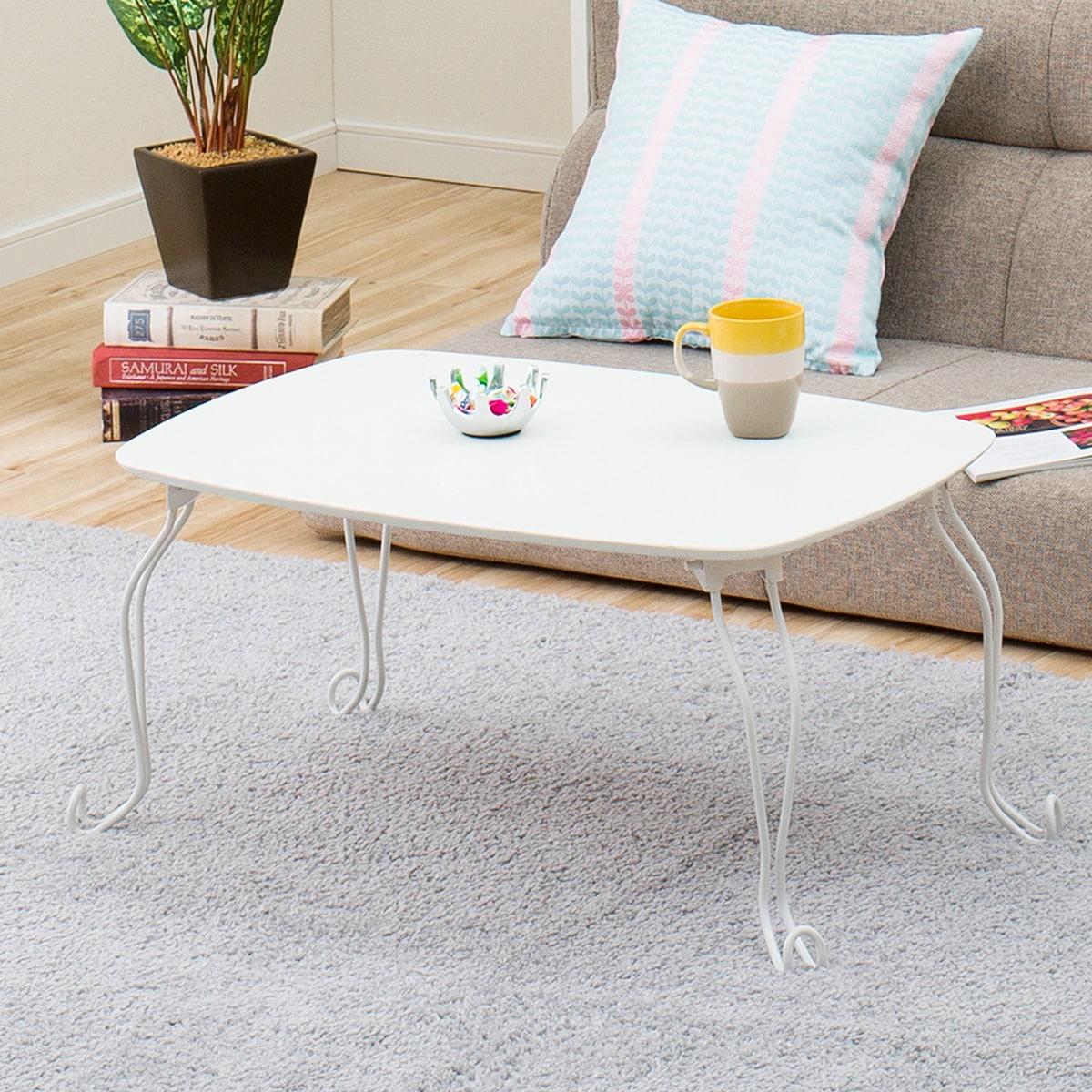折りたたみテーブル キャル2 7050(ホワイト)
