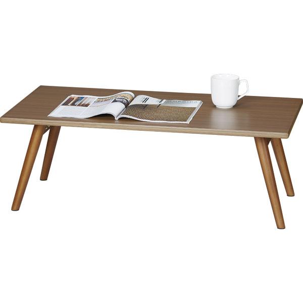 折りたたみテーブル シェリル2 90×45cm(ミドルブラウン)