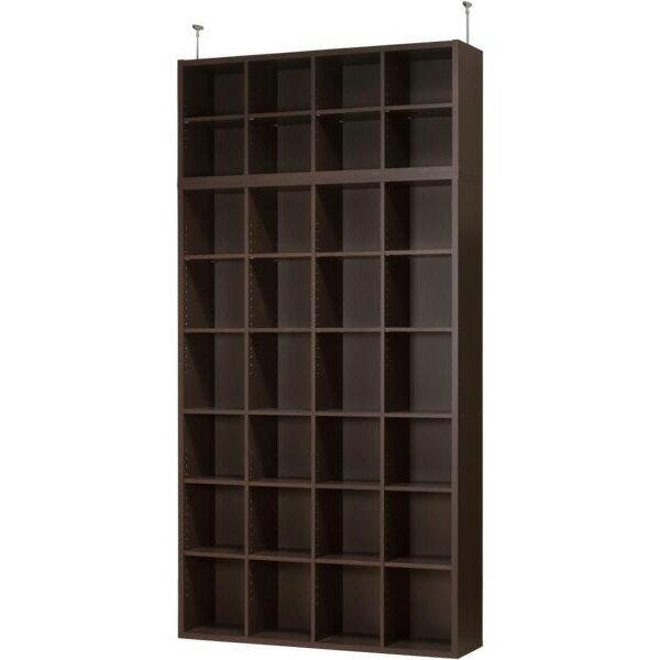 書棚グレン上置セット(BS18120DBR/US120DBR)
