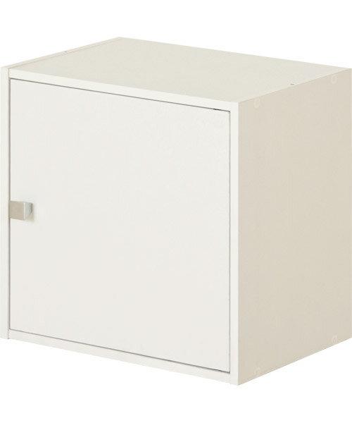 1ドアBOX(L-キューブボックス WH)
