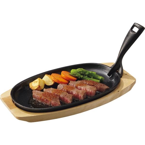 木台・ハンドル付き ステーキ皿(XG995)