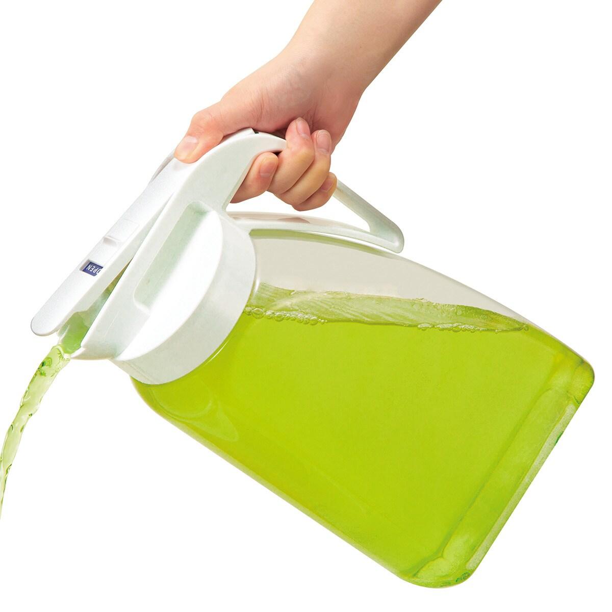 たてよこ置けるワンプッシュ冷水筒(3.1L)