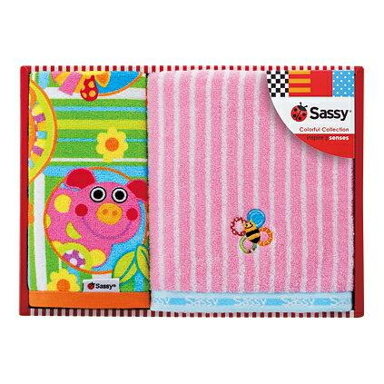 【代引不可】【送料込み 送料無料】Sassy(サッシー)タオルセット(ピンク)【内祝い 出産内祝い インスタ映え】【出産祝い お返し 返礼 お返しギフト】