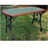 ガーデンテーブル:鋳鉄ファニチャー:クロステーブル[F-267]【あす楽対応不可】【全品】