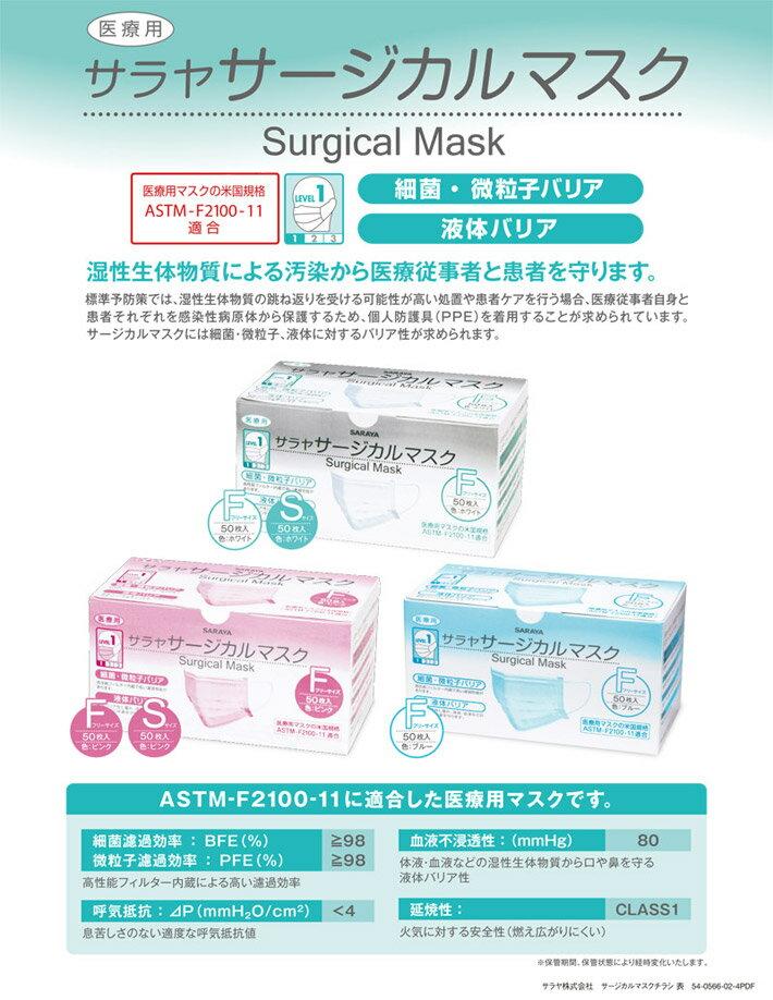 サラヤ 医療用サージカルマスク ピンク ホワイ...の紹介画像2