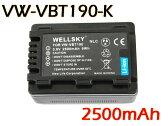 【あす楽対応】 ● Panasonic パナソニック ● VW-VBT190-K 互換バッテリー ●純正充電器で充電可能 残量表示可能 ● HC-V720M / HC-V750M / HC-VX980M / HC-W570M / HC-W580M / HC-W850M / HC-W870M / HC-WX970M / HC-WX990M / HC-WXF990M