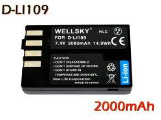 【あす楽対応】『2個セット』●PENTAXペンタックス●D-LI109互換バッテリー●純正充電器で充電可能残量表示可能純正品と同じよう使用可能●K-r/K-30/K-50/K-S1/K-S2