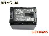 【あす楽対応】 ● Victor ビクター● BN-VG138 / BN-VG121 / BN-VG119 / BN-VG129 互換バッテリー ●純正充電器で充電可能 残量表示可能 ● GZ-E225 / GZ-E220 / GZ-G5 / GZ-EX270 / GZ-EX250 / GZ-E280 / GZ-E320 / GZ-E325 / GZ-E345