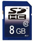 ■■【東芝製チップ】採用オリジナルブランド SDメモリーカード SDHCメモリーカード 8GB Class10 クラス10【SDカード・SDHCカード・メモリーカード・フラッシュメ