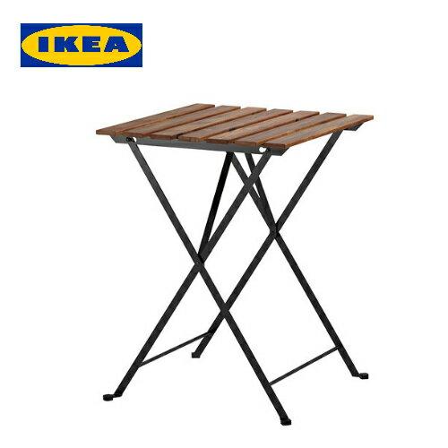 イケア IKEA テルノー TARNO折りたたみテーブルアカシア材 スチール アウトドア【smtb-ms】80165129