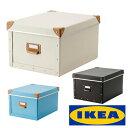 RoomClip商品情報 - 【訳アリ】IKEA FJALLA ふた付き 収納ボックス ケースイケア フィェラ 組立て 収納ケース 27x36x20cm ブルー ブラウン オフホワイト整理 書類 コンパクト 箱【smtb-ms】90269956 10269955 00269951