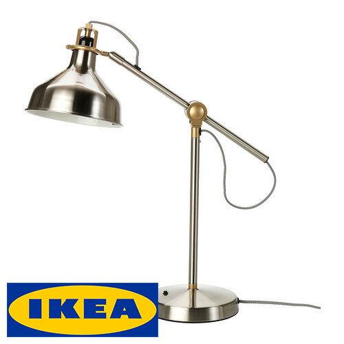 IKEA RANARP ワークランプ 読書ランプ イケア ラーナルプ スポットライト 照明 ニッケルメッキ インテリア 間接照明 LED ハロゲン リビング【smtb-ms】40257687