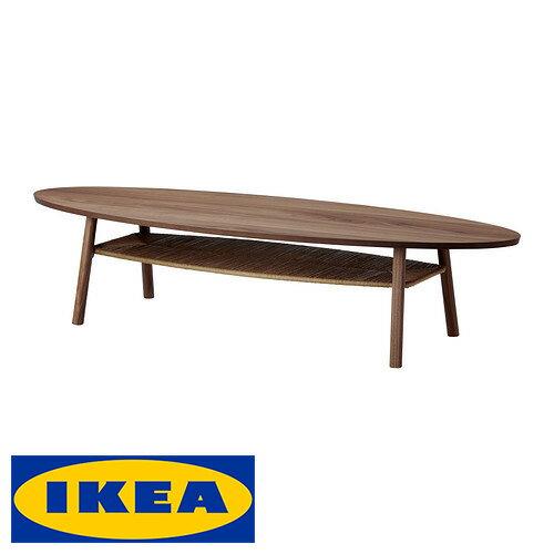 IKEA STOCKHOLM コーヒー サイドテーブルイケア ストックホルム 楕円 テーブル 収納棚付 180x59cmリビング インテリア テーブル 机【smtb-ms】90239709