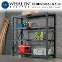 WHALEN スチールラック NSC規格 ウォーレン Industrial Rack ワイヤー デッキ ラック幅 195×奥行き 61×高さ 183cm 4段 シェルフ 耐荷重量 ...