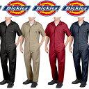 Dickiesディッキーズ正規品 Short Sleeve Coverallsメンズ半袖つなぎ カバーオール 33999インポートブランド海外買い付け作業着ワークシャツ オールインワン