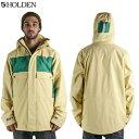 【在庫売りつくし】HOLDEN ホールデン [即納]Seville Jacket SVJ-15-N-JK Soft Yellow-Emerald 2015-2016モデル ジャケット メンズ スノーボードウェア【あす楽対応】 align=