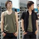 *メンズ アメカジブランド UPSTART タンクトップ シャツ 2枚 セット 半袖シャツ DTP