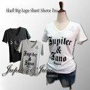 訳あり アウトレット sale 在庫処分メール便可スカル ビッグ ロゴ 半袖 Tシャツ Jupiter Juno/Ladies(ジュピターアンドジュノ)Skull Big Logo Short Sleeve Tee(スカル ビッグ ロゴ 半袖 Tシャツ)