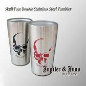 *Jupiter&Juno(ジュピターアンドジュノ)Skull Face Double Stainless Steel Tumbler(スカル フェイス 真空ステンレス タンブラー)