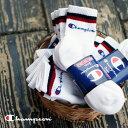 Champion チャンピオン ジュニア 靴下 セット 男の子 スポーツ ロークルーソックス 3枚セット(25-27cm) メール便不可