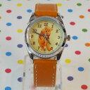 MKN-004-8/ディズニー腕時計(プー/オレンジ)/Disney/バンド/リスト/Watch/ファッション/ハンド/トケイ/おしゃれ/雑貨/ウォッチ/ギフト/プレゼント