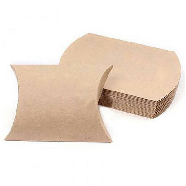 【メール便可】プレゼントや贈り物に♪可愛いクラフト紙のキャンディギフトボックス☆パーティ/プレゼント/贈り物/梱包/枕型/箱/ボックス/小さい/ミニ/お菓子/小物入れ/ハンドメイド/手作り/クラフト