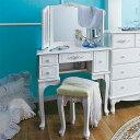 【在庫限り】【ドレッサー&スツール】ピュアホワイトアンティーク飾り家具 猫脚家具
