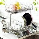 縦横兼用トレー水切りラック2段/ワイド/キッチン用品 ノアン インテリア ベルーナ