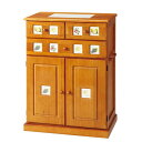 南欧風キッチンカウンター/幅60cm/インテリア・寝具・収納 収納家具 キッチン収納 食器棚・キッチンボードベルーナ ノアン インテリア