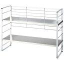 出窓で使える2段シェルフ/幅58cm/インテリア・寝具・収納 収納家具 キッチン収納 食器棚・キッチンボード