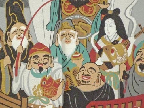 和風のれん 浮世絵のれん 宝船 七福神 85x...の紹介画像2