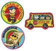 スヌーピー アイロンワッペン アメリカンビンテージDesign 3種組 チャーリー/ウッドストック/バス