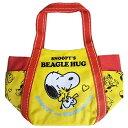 【SNOOPY'S BEAGLE HUG】PEANUTS バルーンバッグ (S) ウッドストックハグ SNAP669
